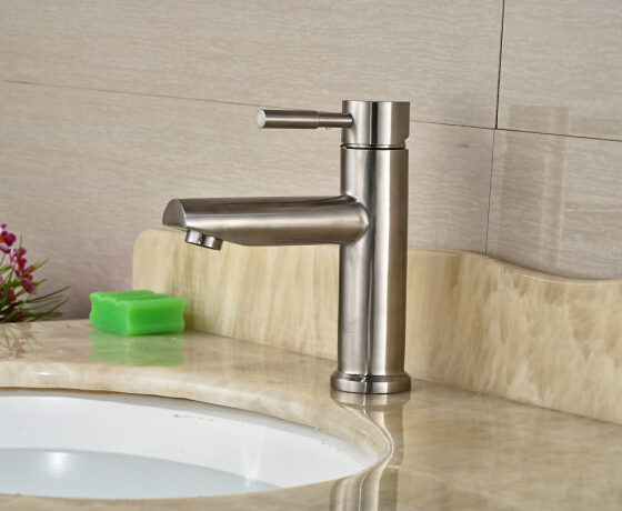 Free Shipping Brief Nickel Brushed Vessel Basin Faucet Waterfall Spout Single Handle мотопомпа elitech мб 500 д 50