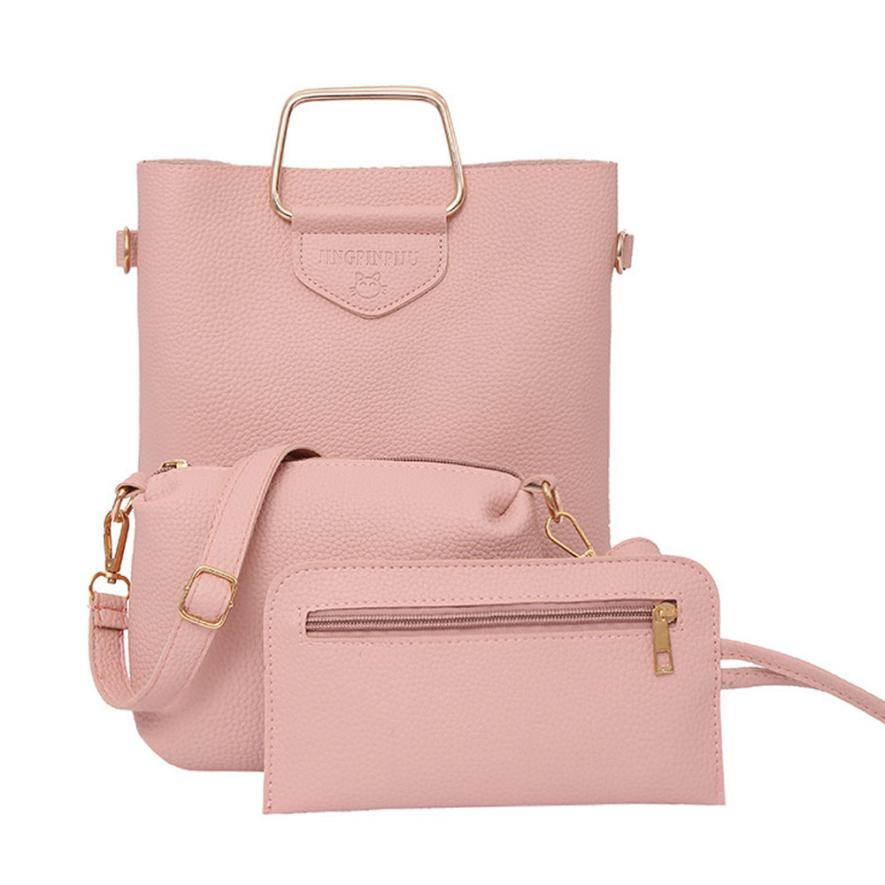 8540cde213e0 Aelicy 3 Pcs Set Pu Leather Women Bag High Quality Casual Female Handbags  Large Capacity Composite Bag Big Women Shoulder Bags