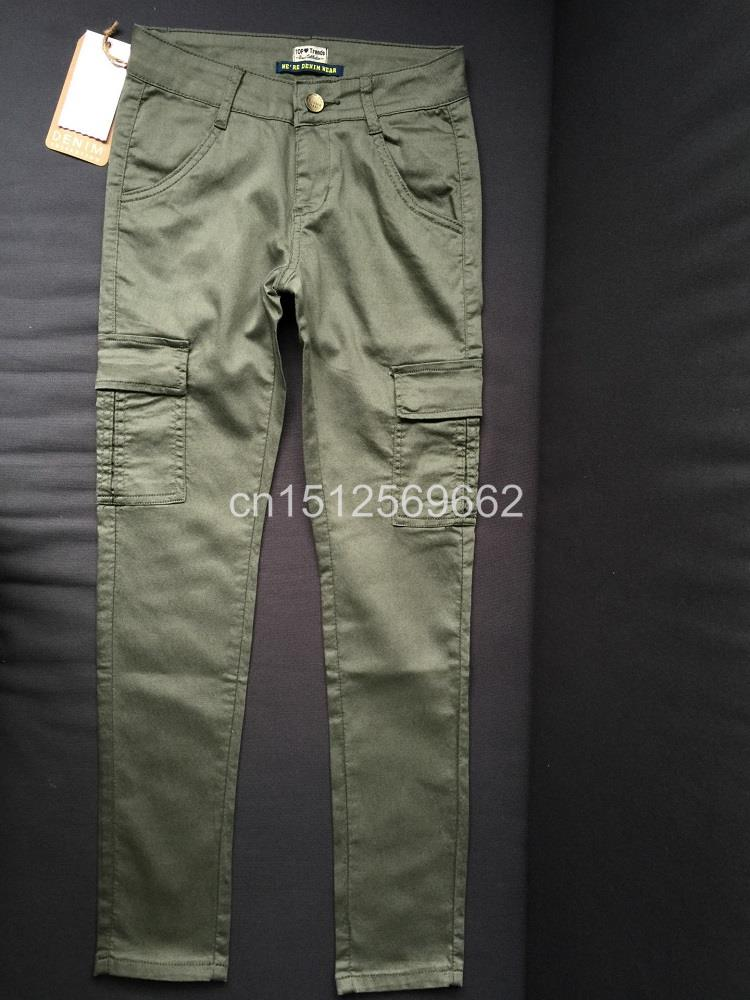 Army Green Jeans Women 9