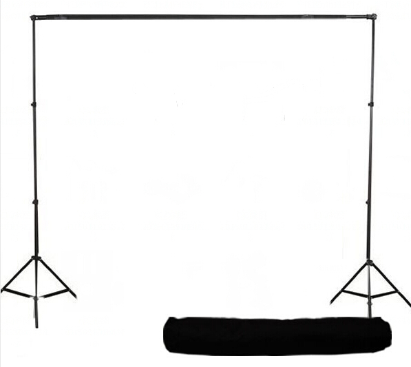 US $269 0 |PS2 03 10 X 12 FT Photo Studio Background Stand Support Kit +  Black White Backdrops Free Bag-in Background from Consumer Electronics on