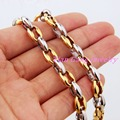 """7.5MM Stainless Steel Link Chains Necklace Mens Necklace Bracelet Womens Jewelry Coffee Bean Style Bracelets 7-40"""" Length"""