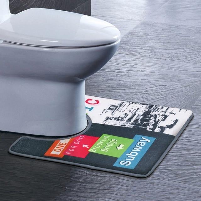 40*45 cm A Forma di U Tappetini Da Bagno Antiscivolo Bagno di Casa Decorazione Tappeto Vasca Da Bagno Toilette Piedistallo Lint Tappetini accessori Per wc UXD-LX