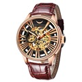 VIUIDUETURE Luxury Brand Mechanical Watches Men Automatic Self-Wind Skeleton Dial Clock Casual Wristwatches Relogio Watch