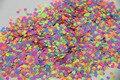 Colores de neón mezcla resistente a los disolventes de la forma del hexágono del brillo de las lentejuelas, lentejuelas tamaño : 2.5 mm 1 pack = 50 g