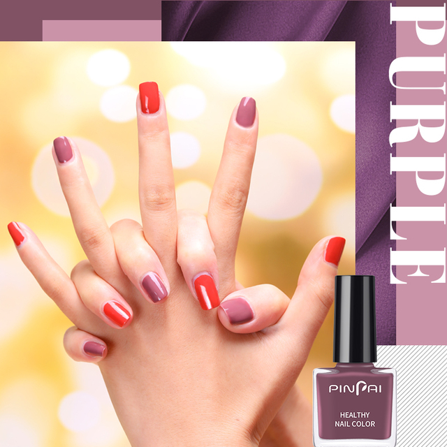 PinPai 6ml Water Based Peel Off Nail Polish Long Lasting Easy Remove Nail Paint Lacquer Enviromental Manicure Red Color Varnish 4