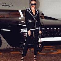 2019 Новая мода женский комплект 2 шт. сексуальный v образным вырезом Бисероплетение повязку искусственный шелк Homecoming Вечерние брюки наборы н