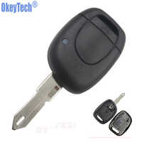 OkeyTech New 1 Button Uncut Blade Remote Car Key Shell For Renault Twingo Clio Kangoo Master Blank Keyless Entry Fob Case Cover