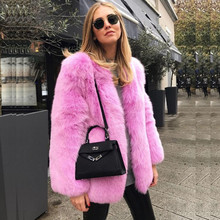35 New Style High-end Fashion Women Faux Fur Coat S1