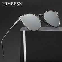 Hjybbsn moda flecha vintage ronda gafas de sol de mujer de marca diseñador cat eye los vidrios de sun de las mujeres gafas de sol gafas feminino