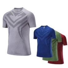 Men Shirt Running 2017 Short Sleeve Sport Running Quick Dry Basketball Soccer Training TShirt Men Gym Clothing Sportswear Autumn