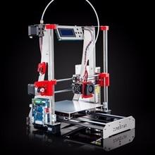 Más reciente Actualización Full Metal 3D Impresora Reprap Prusa i3 DIY Kit Fácil de Montar Opcional de Doble Extrusora Extrusora Enfundado Envío Gratis