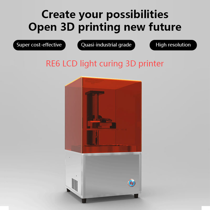 Resin Jewelry Dental 3D Printer LCD 3d printing machine free shipping 2K resolution resin, jewelry wax casting machine no frame canvas