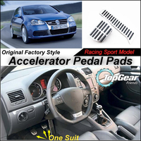 Litanglee Car Accelerator Pedal Pad Cover of Original Factory Sport Racing Model Design For VW Golf / Jetta MK5 2003~2009 Tuning