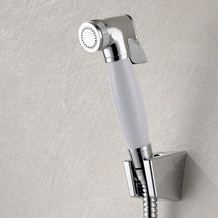 Free shipping Women Hand held Bidet Shower set Mixer Portable bidet spray faucet with 1.5m hose and seat BD125