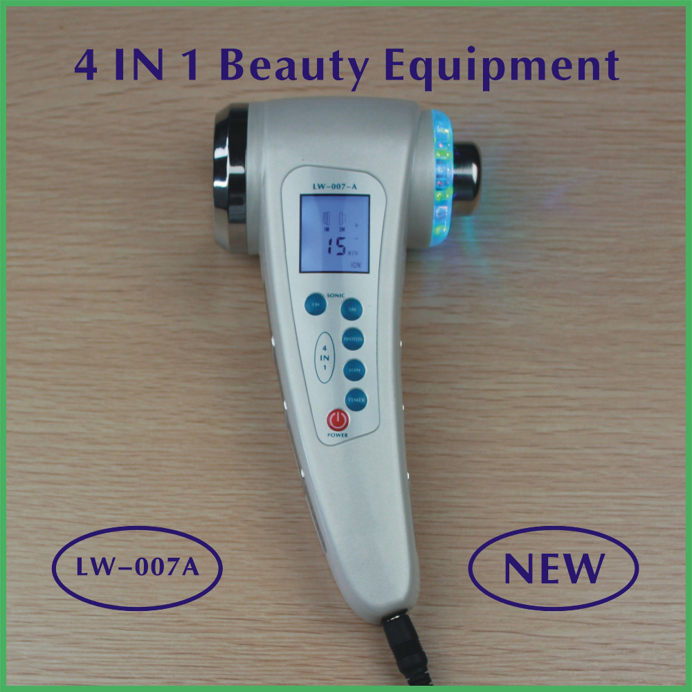 Portable Ultrasonic 7 LED Photon Rejuvenation Lights Sonic Face Lift Care Skin Cleaner Wrinkle Remover Facial Beauty Massager