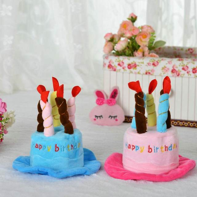 Online Shop 1pcs Cute Pet Dog Cake Shape Hat Puppy Pet Supplies Pet