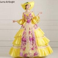 Hoàng hậu Marie Antoinette Lấy Cảm Hứng Từ Trang Phục Sân Khấu Prom Pageant Dress Quinceañera Dress Masquerade Bóng Gown VÀNG