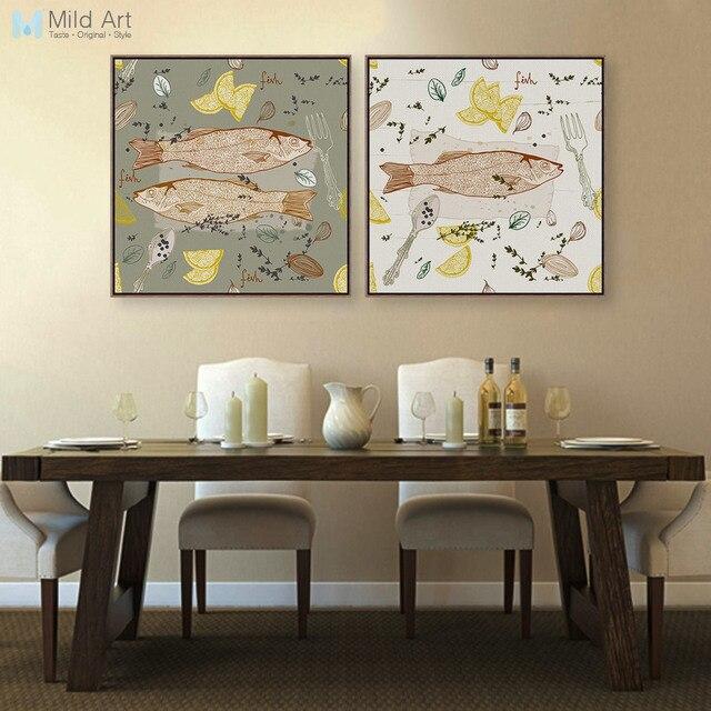 Aliexpress.com : Buy Modern Fish Dish Poster Print Animal Picture ...