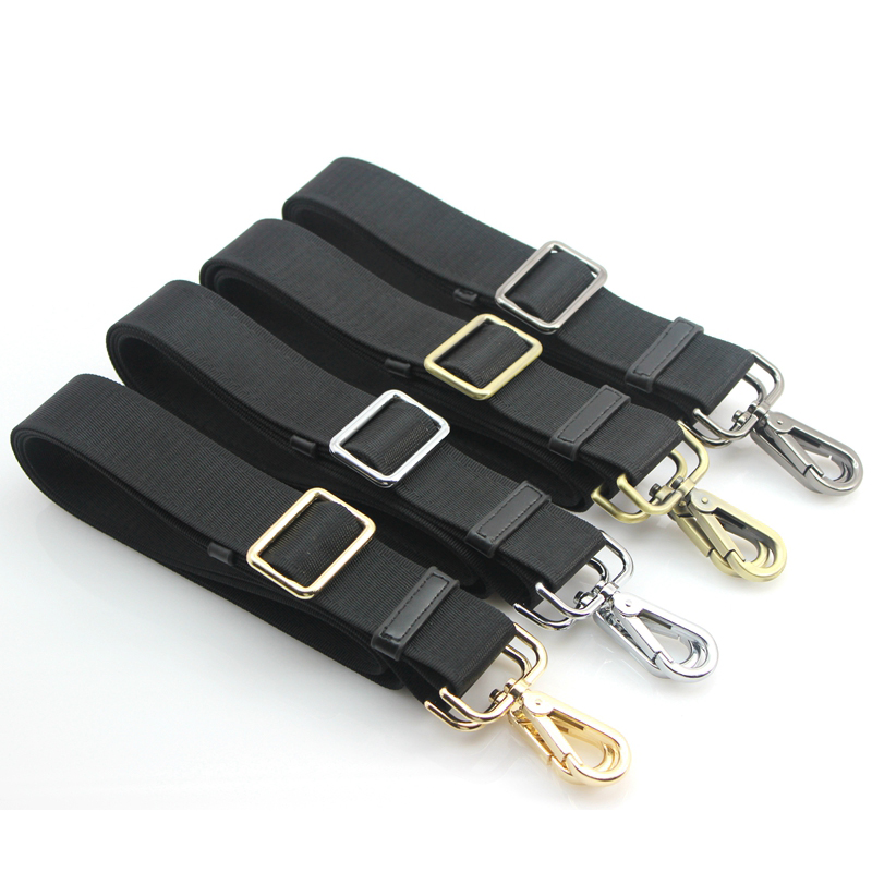 Replacement 2.5cm, 3.3cm, 3.8cm Handbag Belts DIY 165cm Adjustable Black Bag Straps With Gold, Silver, Bronze, Gun Black Buckles