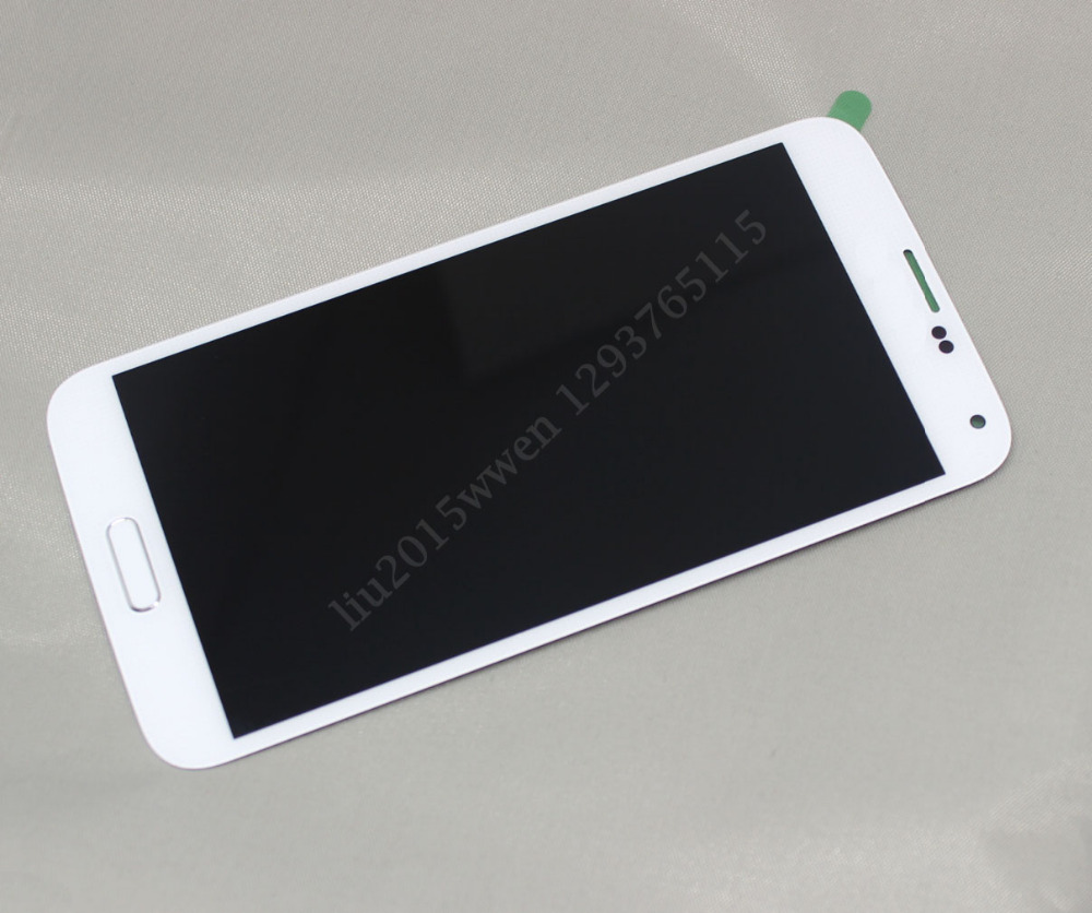 FOR Samsung Galaxy S5 WHITE i9600 G900A LCD Screen Touch Digitizer ++ Home Flex
