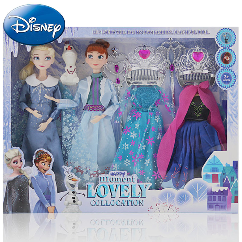 Disney 2019 New Doll Dress Frozen Snow Queen Princess Dolls Toy Fashion Casual Wear Handmade Cloth Outfits-Accessories Best DIY