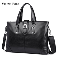 VIDENG POLO New Men Business Messenger Bag Brand Leather High Quality Handbag Casual Laptop Briefcase Crossbody
