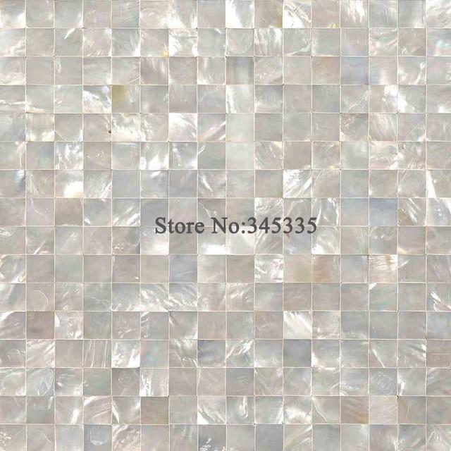 Bianco lip shell mosaico madreperla piastrelle cucina bagno carta da parati sfondo muro di - Mosaico per cucina ...