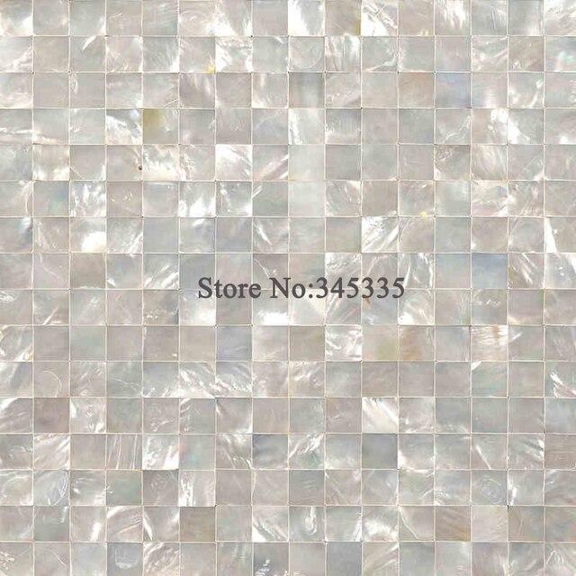 Labbro bianco mattonelle di mosaico delle coperture madre di perla ...