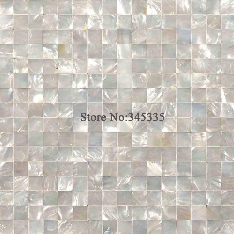 White Lip Shell Mosaic Tile Mother Of Pearl Kitchen Tile Bathroom Wallpaper Background Wall Tiles For Hotels Barsballroom Villa