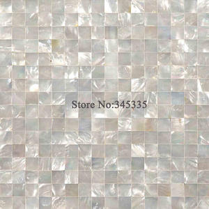 Bathroom Wallpaper Mosaic Kitchen-Tile Background White of Pearl for Hotels Villa Lip-Shell