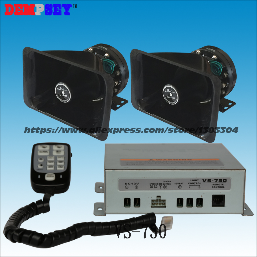 VS-730 High Power Whelen 300w Car Siren,300W Speaker Alarm,10Tone ,rescue/ Emergency Vehicle/ Police Siren,  With 2*150W Speaker
