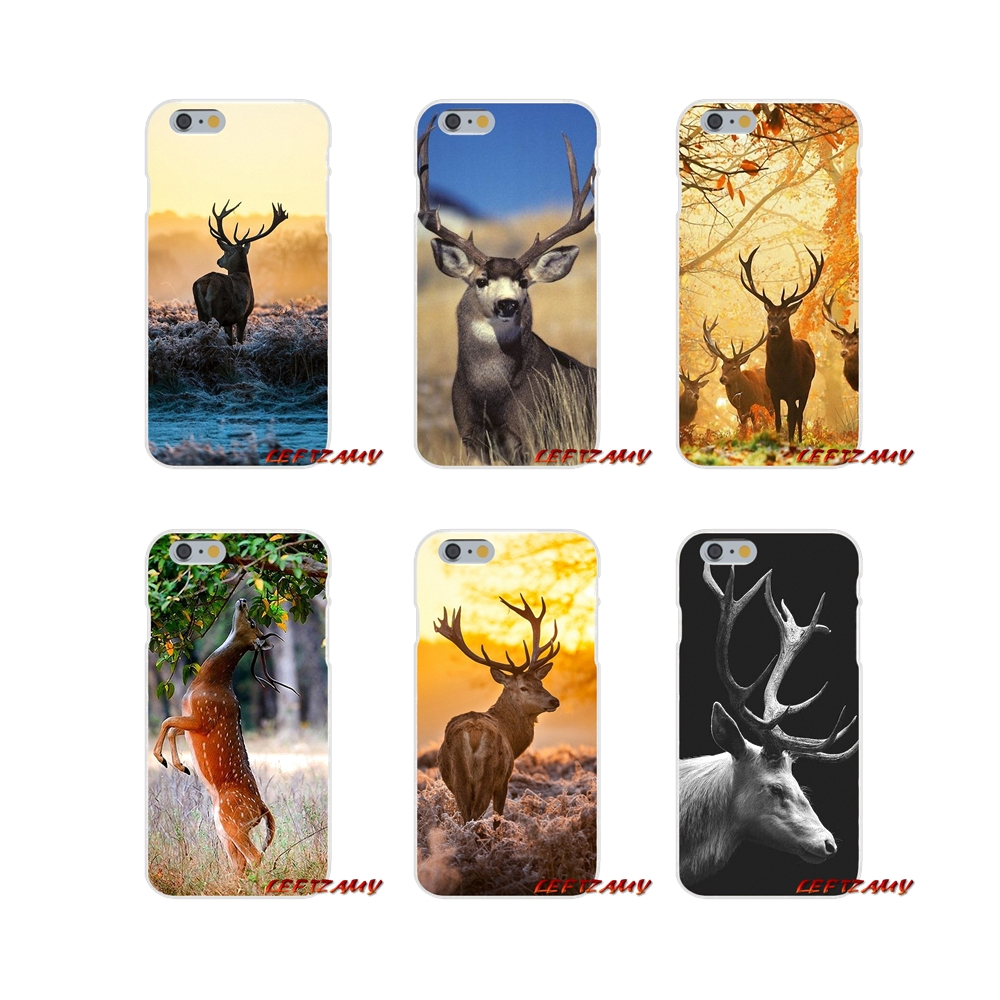 For iPhone X 4 4S 5 5S 5C SE 6 6S 7 8 Plus Accessories Phone Cases Covers deer buck stage art