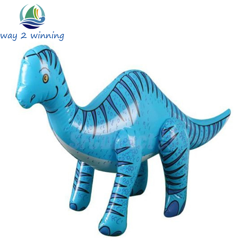 77 40 cm inflatable blue dinosaur blow up children toy party supply birthday christmas gift inflated