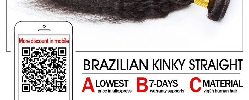 7A Grade Coarse Yaki Mongolian Virgin Hair Kinky Straight Human Hair Weave 3 Bundles DHL Free Shipping