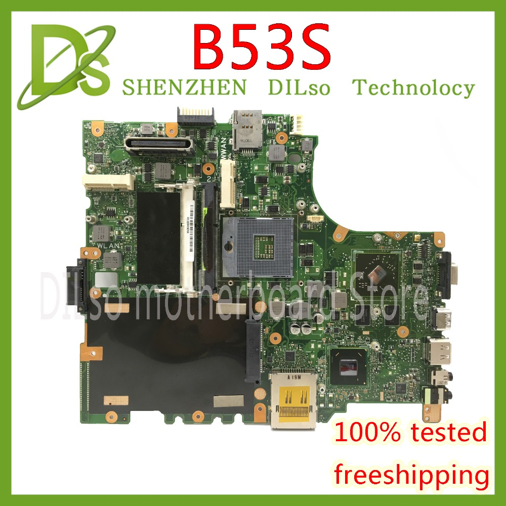 KEFU B53S mainboard For ASUS B53 B53S B53F B53J laptop motherboard  Test work 100% originalKEFU B53S mainboard For ASUS B53 B53S B53F B53J laptop motherboard  Test work 100% original