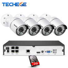 Techege 4CH font b CCTV b font System 1080P PoE NVR Metal Outdoor 2 0MP IP