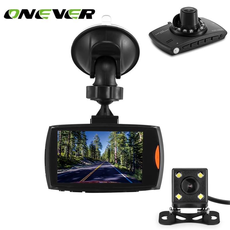 """ONEVER 2.7 """"Двойной объектив 1080 P FHD 1.2mp тире Камера Видеорегистраторы для автомобилей Видео Регистраторы видеокамера Поддержка обнаружения движения/G- датчик/цикл видео"""