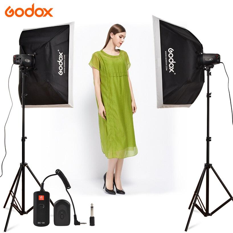 Godox K150A 300Ws 300W 2*150Ws Studio Strobe Room Photo Studio Photography Lighting with Softbox DC-04 flash Trigger Kit godox e300 300ws photography studio strobe photo flash light 300w studio flash