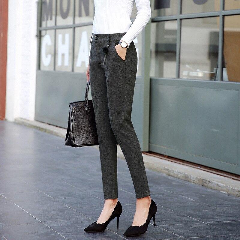 Las Cintura De 1 Streetwear Alta Moda Plus Slim 4 Caliente 2 Pantalones Tamaño Harajuku Mujeres Espesar Rectos 3 Otoño Mujer wERdw