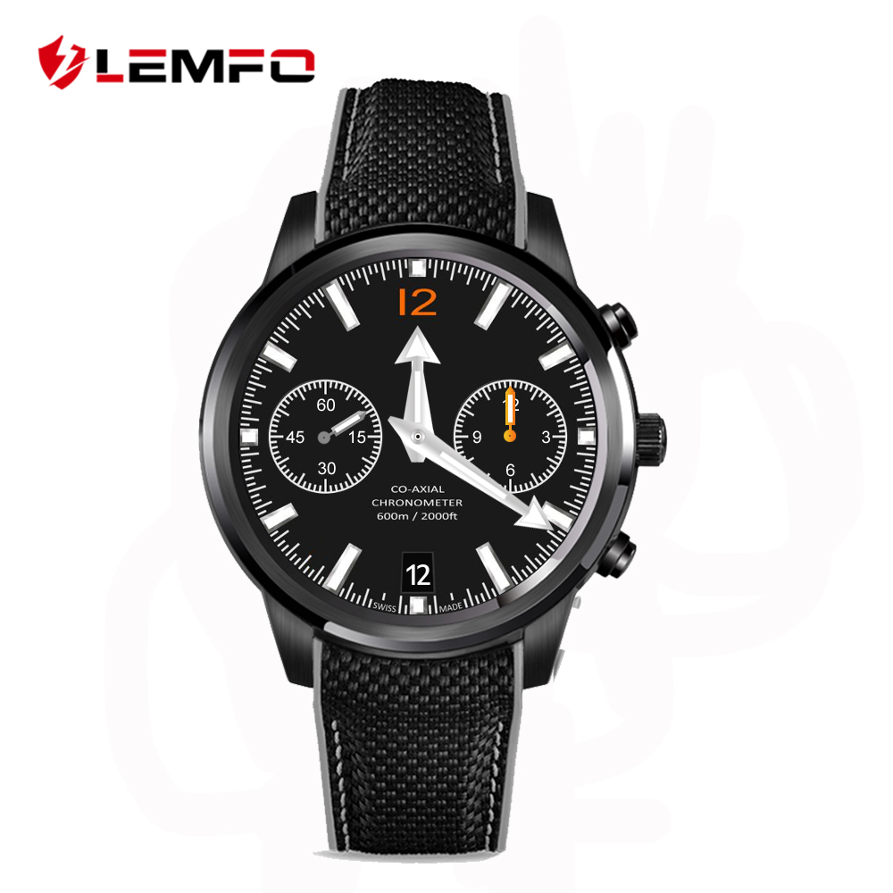 "2016 Best LEMFO LEM5 Android 5.1 OS Wrist Smart watch MTK6580 1.39"" AMOLED Display 3G SIM Card 1G+8G Bluetooth Wifi SmartWatch"