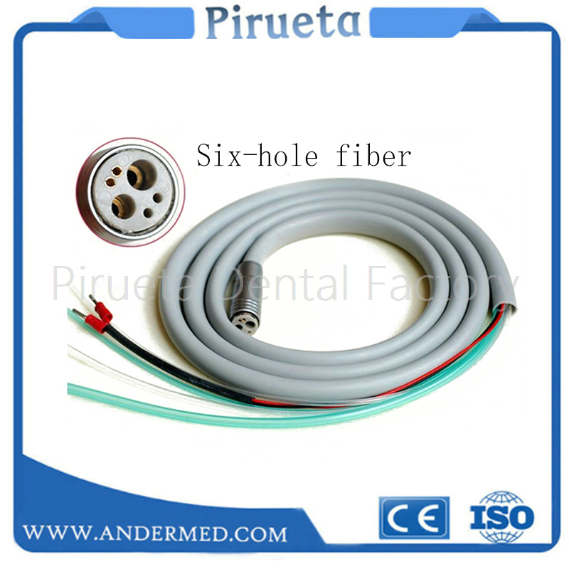Dental 6 Hole Tubing Tube Silicone Hose fit High Speed Fiber Optic LED Handpiece