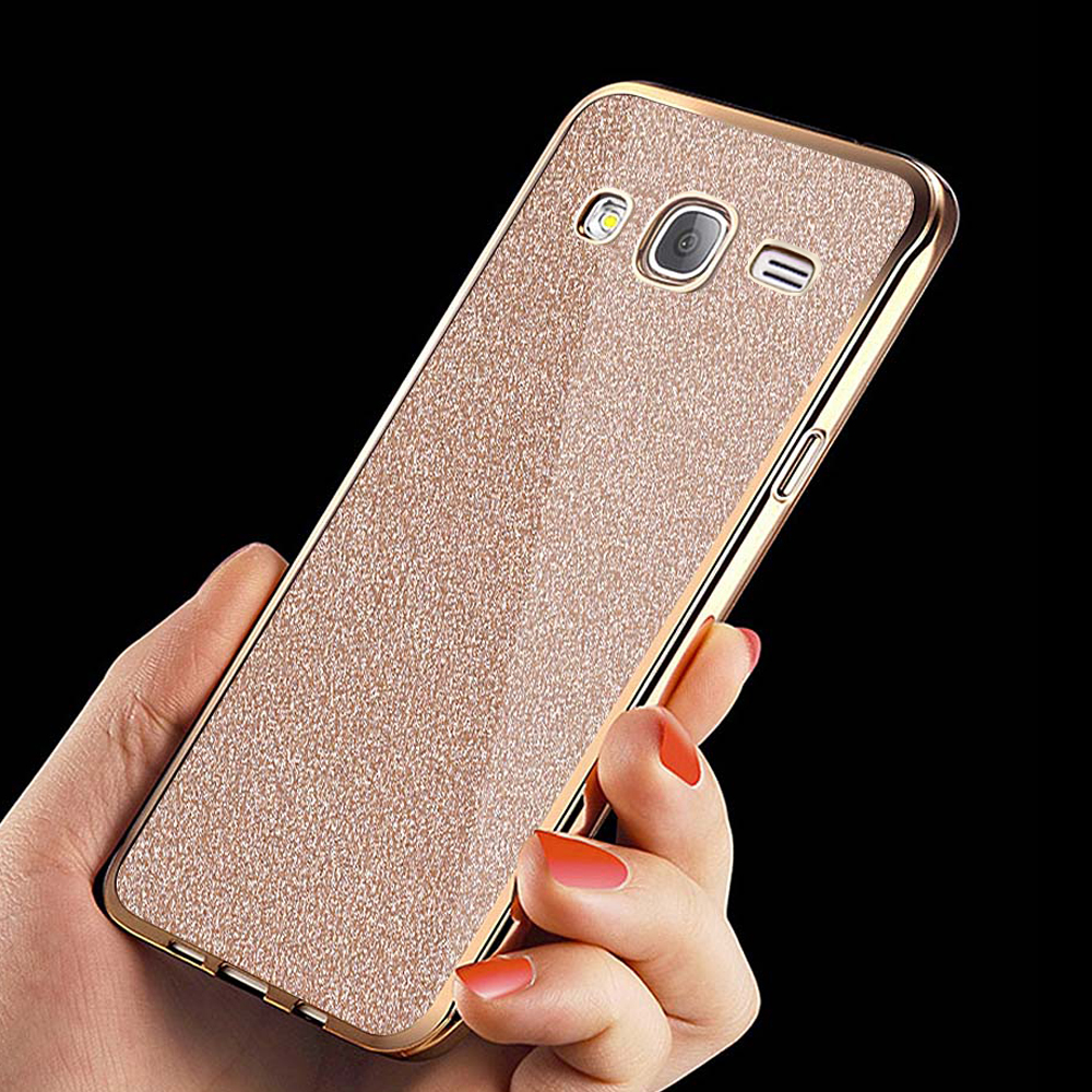 Galleria fotografica for samsung galaxy j5 2015 Case Glitter Bling Soft Silicone phone Cases for Samsung J5 2015 j500 J500H Crystal Cover