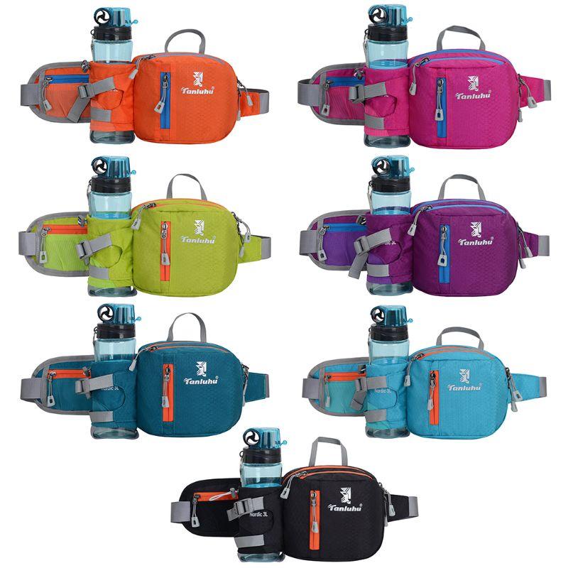 Running Belt Jogging Cycling Waist Bum Pack Phone Pouch Sports Bag With Water Bottle Holder Organizer