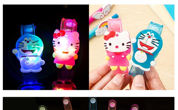 1pcs Cartoon LED Night Light Party Xmas Decoration Colorful LED Watch Toy Boys Girls Flash Wrist Band Glow Luminous Bracelets (6)