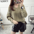 YiZiKKCO Brand Woman Sweaters Pullovers 2016 New Autumn Winter Knitted Sweater Womens Pullover Pull Femme Sweter Mujer WHD370