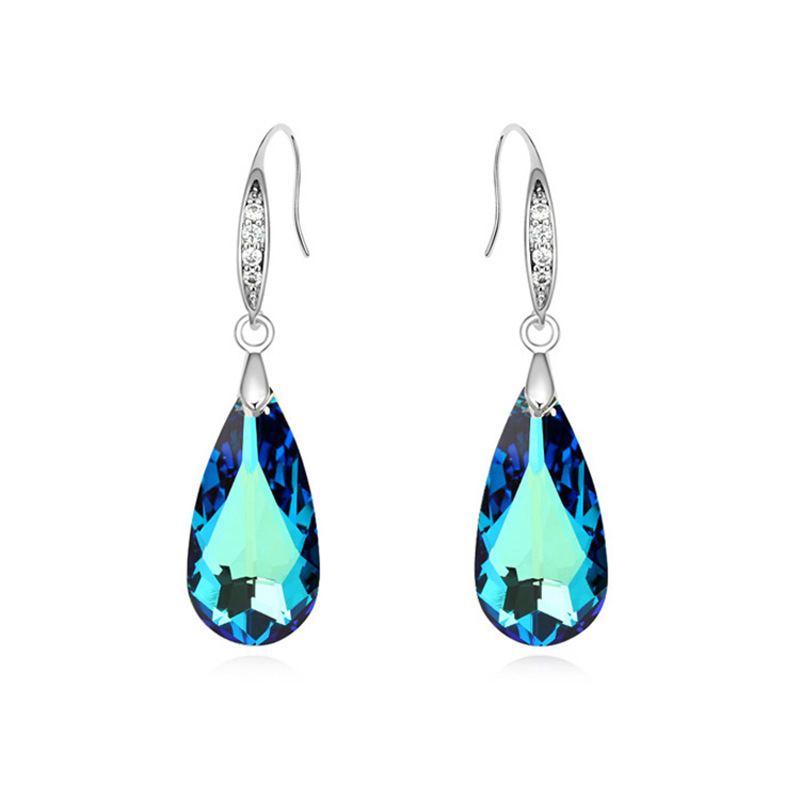 c8b24c89aed7 Crystal from Swarovski Luxury Teardrop Shape Drop Dangle Earrings for Woman  Charm Brincos Jewelry Made with Swarovski Element-in Drop Earrings from  Jewelry ...