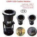 2 unids/lote 1200 W DMX confeti de efecto de etapa cañón RGB LED máquina de confeti para Disco DJ fiesta de bodas decoración
