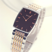 Wristwatches Original Brand Wilon Top Quality slim two-pin fashion gold Men watch