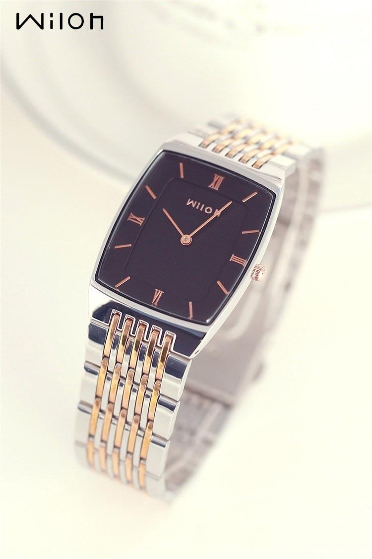 Wristwatches Original Brand Wilon Top Quality Slim Two-pin Fashion Gold Men Watch Lovers Waterproof Women Lovers Watch 919