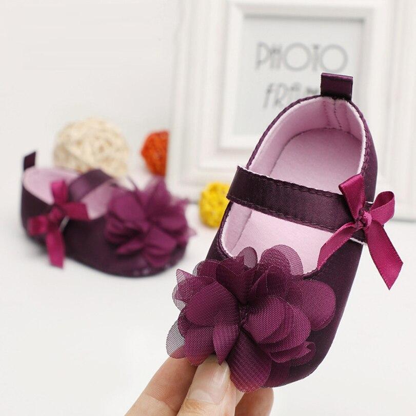 תינוק בנות נעלי יילוד להחליק על הראשון ווקר החלקה הוכחה נסיכת עבור פרח מוקסינים רך sole עריסה אביב חמוד חדש